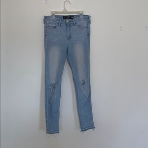 Hollister cropped high rise jeans